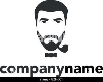 Icono de bigote Logo plantilla diseño ilustración vectorial ...