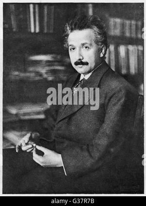 El científico alemán Albert EINSTEIN. Fecha: 1879 - 1955 Foto de stock