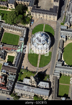Vista aérea de la Radcliffe Camera & Bodleian Library, Oxford University, Reino Unido