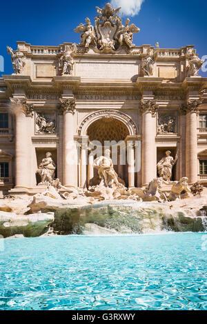 Fontana de Trevi (Fontana di Trevi) en Roma. Italia