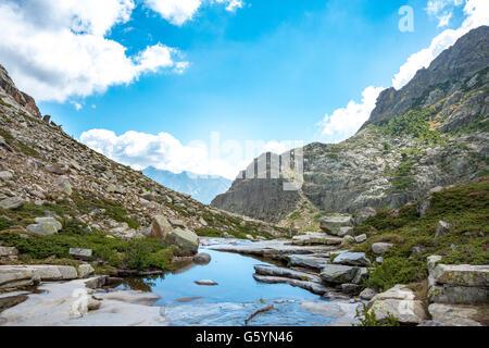 Piscina en las montañas, el río Golo, Parque Natural de Córcega, Parc naturel régional de Corse, Córcega, Francia