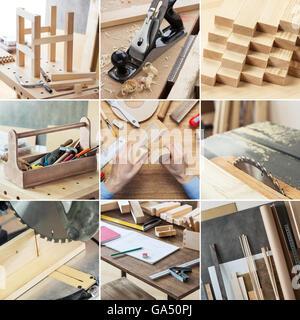 Varios ebanistería, carpintería, reparación, herramientas de bricolaje y suministros en conjunto