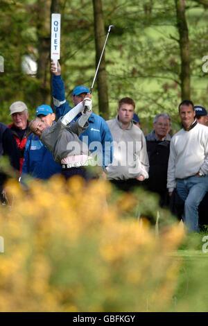 Golf - Damivo British Masters - Marriott Forest of Arden - Primera Ronda. Carly Booth, de 11 años, se desmarca del 18th