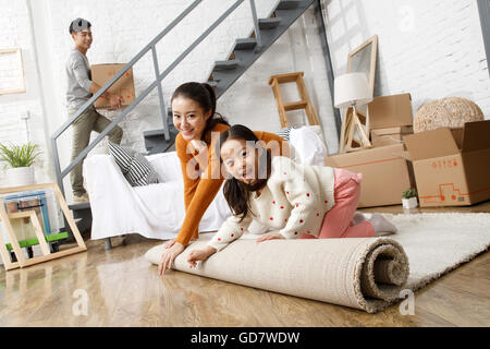 Feliz familia se mudó a Nueva Casa