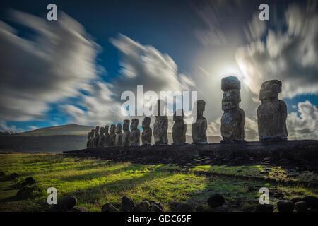 América del Sur, Chile, Isla de Pascua, Rapa Nui, Pacífico Sur,la UNESCO, Patrimonio Mundial,