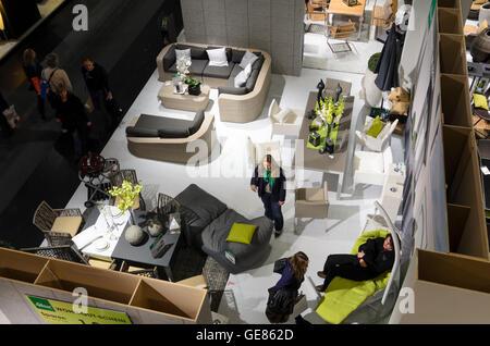 Wien, Viena: Feria ' Vida & Interieur ' en Messe Wien, vista superior, muebles, Austria, Wien, 02.