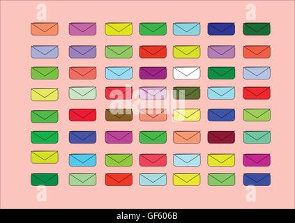 Ilustración que muestra el color poco sobres para fondos claros Foto de stock