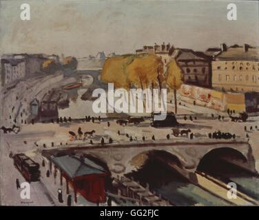 Albert Marquet escuela francesa Le Pont Saint-Michel et le Quai des Grands Augustins 1912 Óleo sobre lienzo (66 x 82 cm), París, Musée national d'Art Moderne, Centre Pompidou