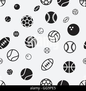 ... Balón deportivo seamless pattern textura del fondo ilustración  vectorial Foto de stock 94ef37b532270