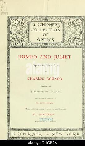 Romeo y Julieta - opera en cinco actos (1897)