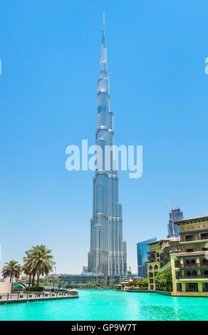 Burj Dubai, la ciudad de Dubai, Emiratos Árabes Unidos, EAU Foto de stock