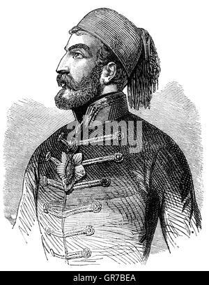 Omar Pasha latas (1806-1871) fue un general y gobernador otomano. Inicialmente fue un soldado austríaco, pero cuando se enfrentan a las acusaciones de malversación de fondos huyeron a Bosnia otomana y convertido al Islam, se unió al ejército otomano donde rápidamente escaló en filas. Fue comandante en la guerra de Crimea, donde ganó victorias pendientes en Silistra y Eupatoria y participó en el asedio de Sebastopol.