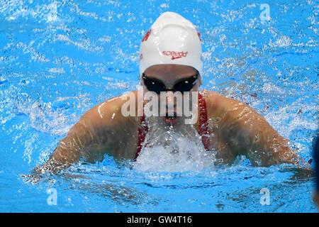 RIO DE JANEIRO, RJ - 11.09.2016: PARALIMPÍADA Natación - 2016 A.Rivard (CAN) durante la natación Paralimpíada 2016 celebrada en el estadio acuático Olímpico. (Foto: Marcelo Cortes/Fotoarena)
