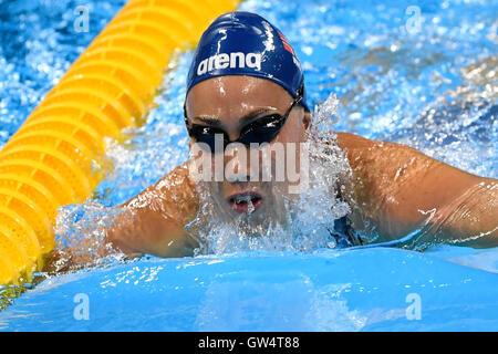 RIO DE JANEIRO, RJ - 11.09.2016: PARALIMPÍADA 2016 - Foto durante la natación Natación Paralimpíada 2016 celebrada en el estadio acuático Olímpico. (Foto: Marcelo Cortes/Fotoarena)