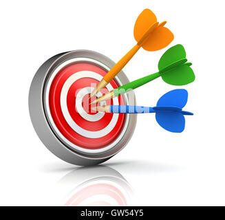 Bullseye target ilustración 3d Foto de stock