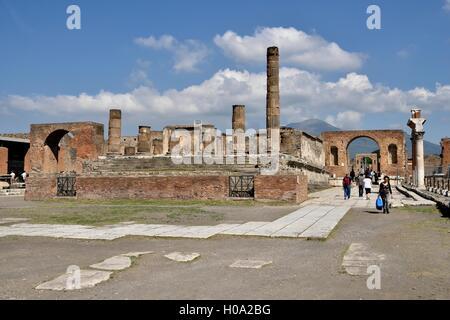 Foro, la antigua ciudad de Pompeya, Campania, Italia