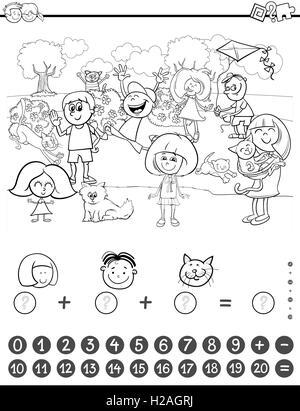Libro para colorear de actividad de matemáticas Foto & Imagen De ...
