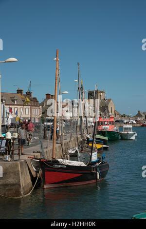 La comuna costera de Barfleur en Normandía, noroeste de Francia.
