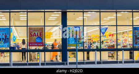 Supermercado ALDI. Inglaterra. UK Foto de stock