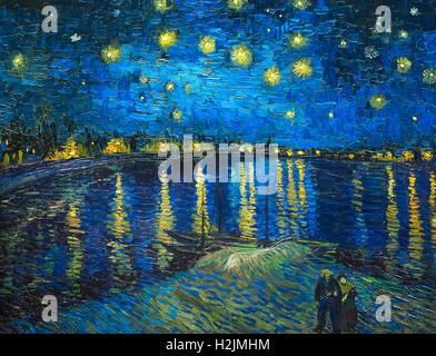 Noche Estrellada Sobre El Ródano 1888 Por Van Gogh Foto