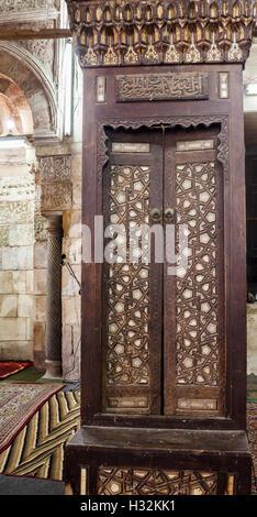 Detalle de minbar, El Fayum, Egipto, Mezquita de Asalbay (1498-9)
