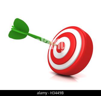 Concepto de destino de bullseye ilustración 3d Foto de stock