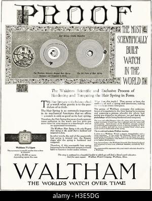 1920 anuncio desde antiguo original vintage revista americana de 1920 relojes Waltham publicidad publicidad