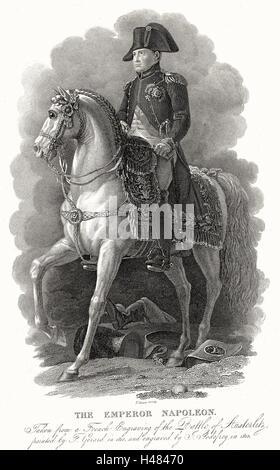 Napoleón I Bonaparte (1769-1821). El emperador de Francia desde 1804. Foto de stock
