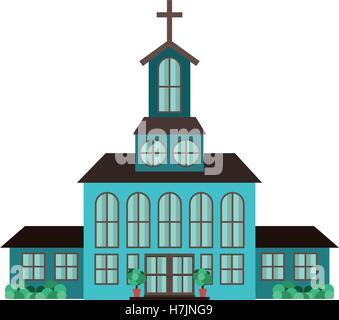 Icono de edificar la iglesia sobre fondo blanco. ilustración vectorial