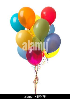 Coloridos globos de aire Foto de stock