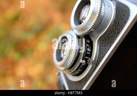 Vintage Style twin Lens Reflex cámara Foto de stock