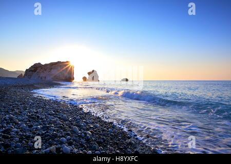 La Roca de Afrodita, en Paphos, Chipre, Mediterráneo Oriental