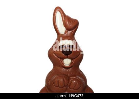 Detalle de conejitos de chocolate