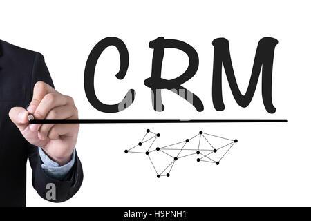 Análisis de la gestión de CRM cliente empresarial concepto de servicio