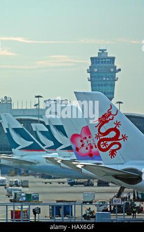 El aeropuerto internacional de Hong Kong a China