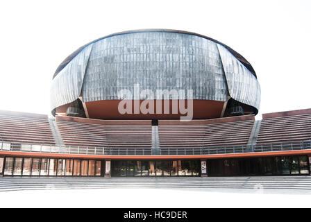 El Auditorio Parco della Musica, diseñado por el arquitecto italiano Renzo Piano, Roma, Italia