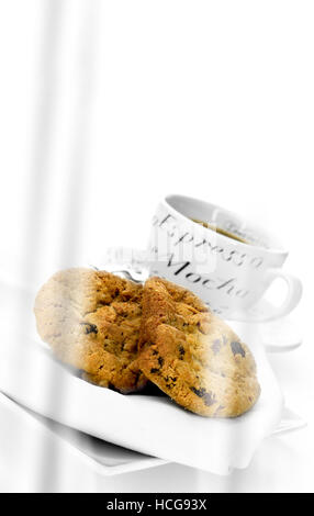 Desayuno con café y galletas de harina de avena saludable Foto ...