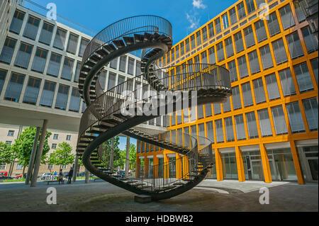 Infinitas escaleras, doble hélice, la escultura, el artista Olafur Eliasson, firma de auditoría KPMG, Westend, Schwantalerhöhe, Munich