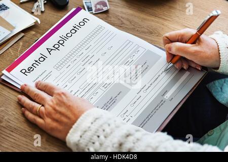 Formulario de solicitud de alquiler pueden alquilar endeudarse aplicar el concepto de alquiler
