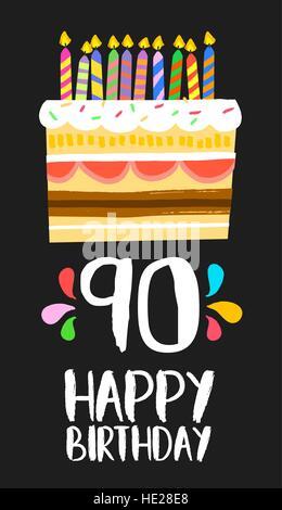 Feliz Cumpleaños 90 De 90 Años Un Diseño De Lujo Con Número