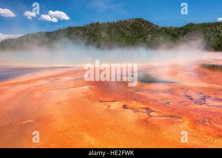 Grand Prismatic Spring, en el Parque Nacional de Yellowstone, en EE.UU.