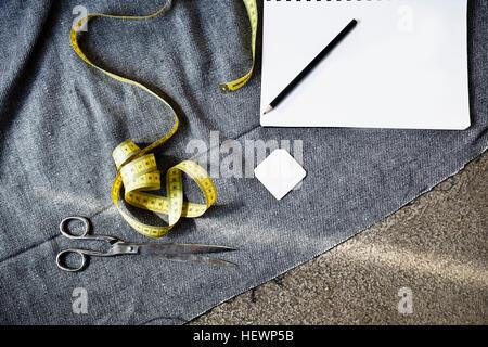 Vista aérea de maquinas de coser