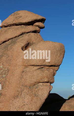El rostro como roca Parque Jardín de los dioses de las Montañas Rocosas de Colorado