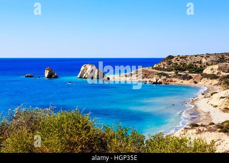 La Roca de Afrodita, Petra tou Romiou, cerca de Paphos, en Chipre.