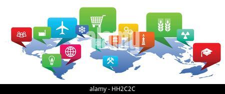 Global internet ilustración vectorial.