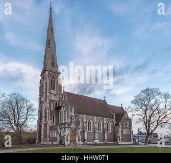 La iglesia de San Alban, situada en Copenhague, Dinamarca.