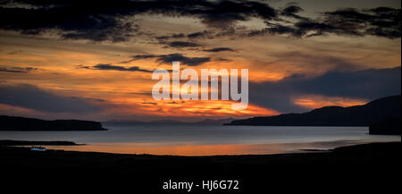 Isla de Skye Sunset Foto de stock