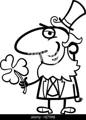 Feliz duende caricatura para coloring book Foto & Imagen De Stock ...