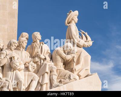 El Monumento a los descubrimientos del Nuevo Mundo en Belem, Lisboa, Portugal.