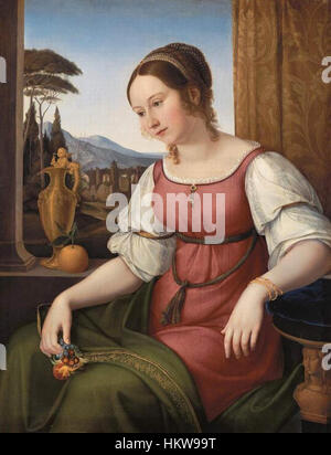 Friedrich Wilhelm von Schadow - Retrato de una joven mujer romana (Angelina Magtti) - WGA20938